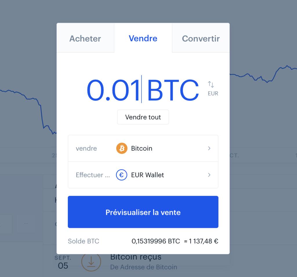 coinbase convertir crypto en euros