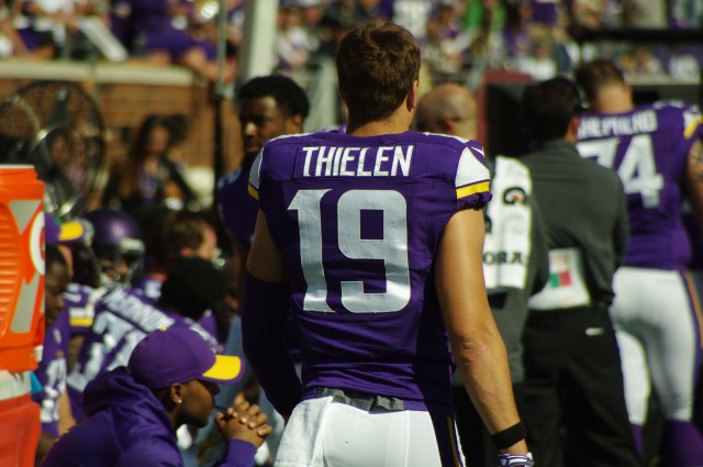 Thielen, who grew up in Detroit Lakes, has found a niche on the team. (Photo credit: Cumulus Media)