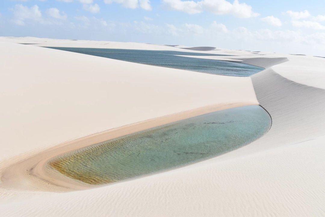 Desert de sable blanc Bresil