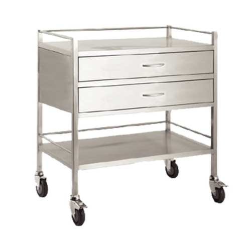 Dressing-Trolley-800x500x900-Stainless-Steel-Double-Drawer