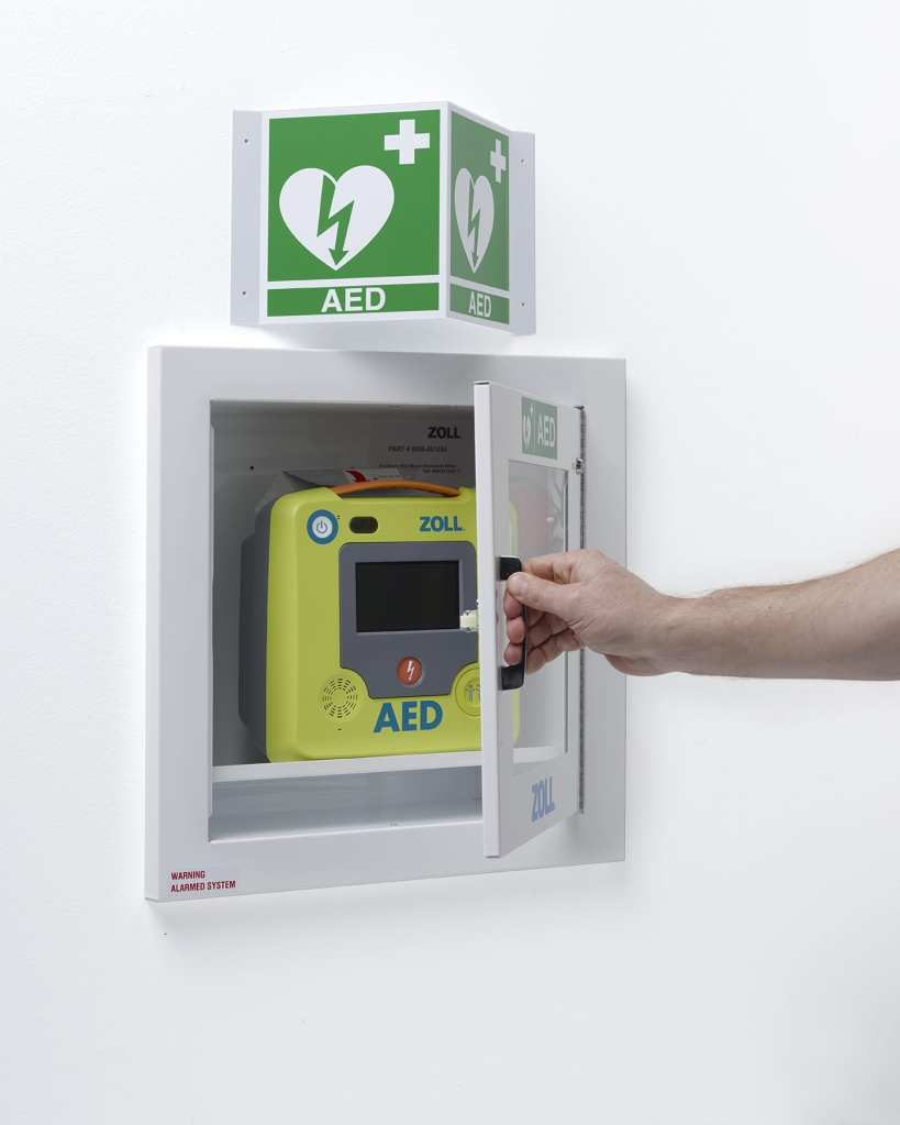 Zoll AED 3 Wall Cabinet Open