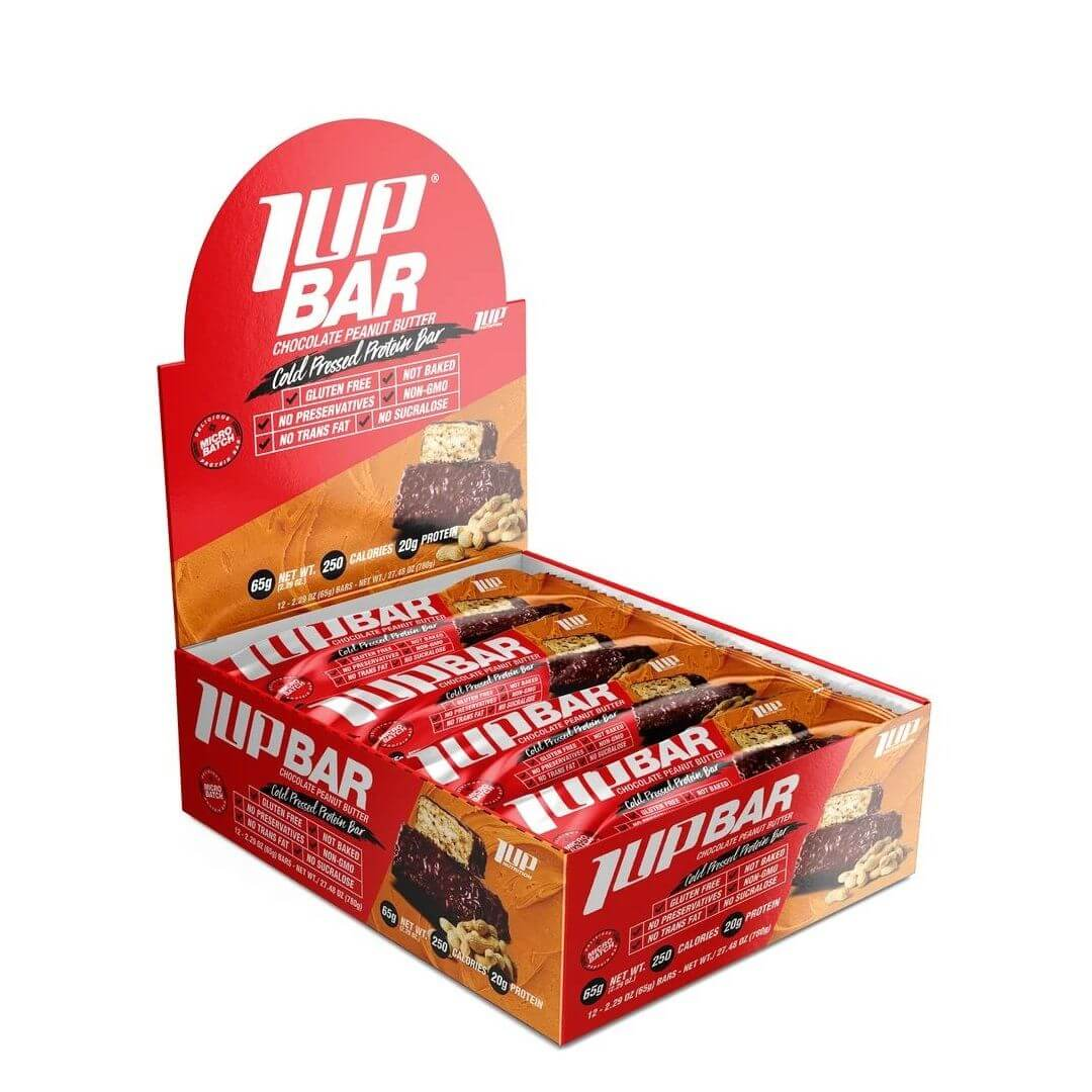 1UP Protein Bars 65g (1 Box / 12 Bars)   Zone Nutrition