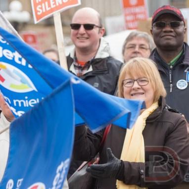 Marche pour la science sur la colline du parlement d'Ottawa