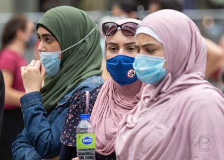Manifestation contre l'annexion de la Palestine à Israël.