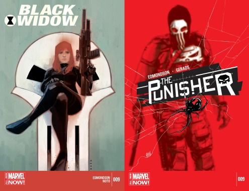 Black Widow #9 et The Punisher #9