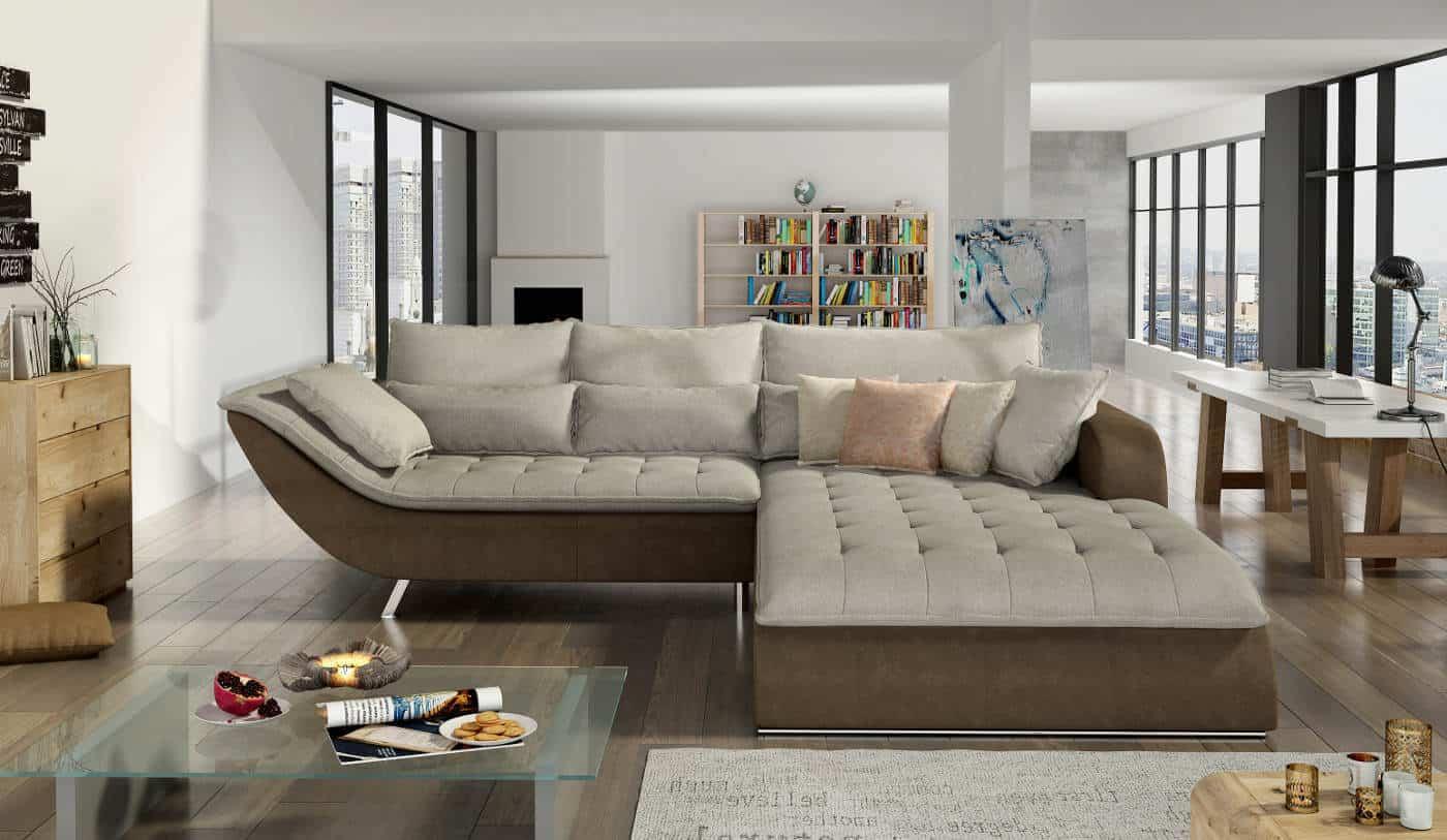 Rolo Subtil Sofa Med Chaiselong Det Klassiske Look I Gra Farve