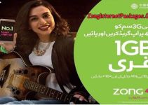 How to Get 1GB Free Zong Internet