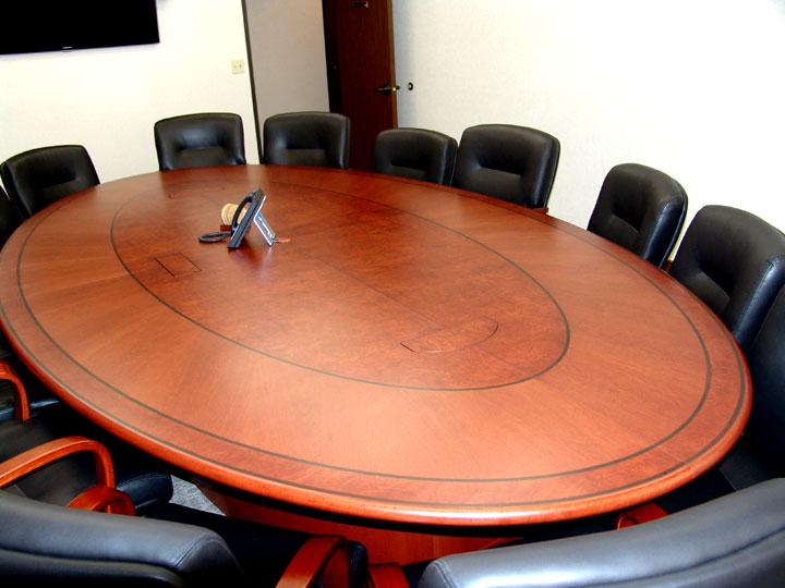 Elliptical Shaped Table