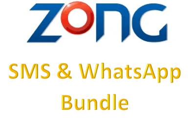 Zong SMS & WhatsApp Bundle