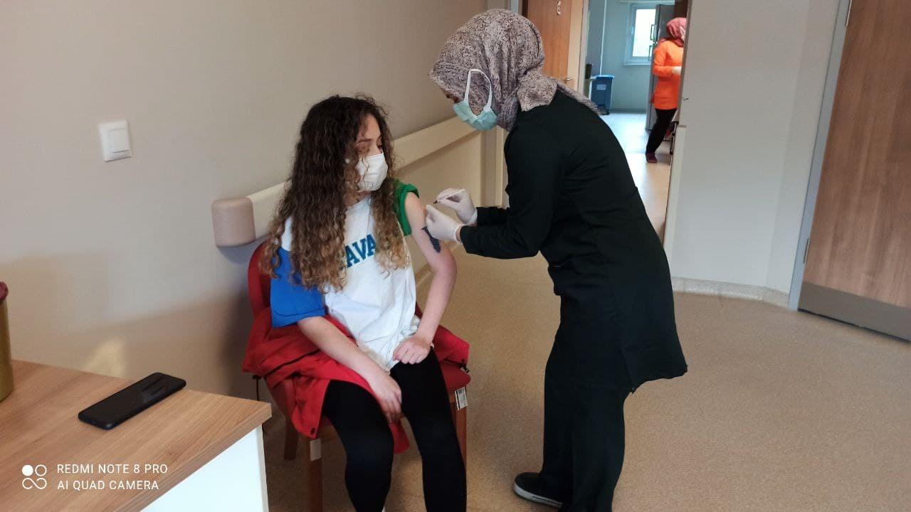 Devrek Devlet Hastanesi'nde aşı yoğunluğu yaşanıyor