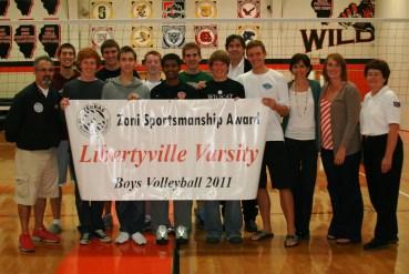 Libertyville Boys win 2011 Sportsmanship Banner