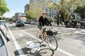 Bike lanes in Jersey City, New Jersey