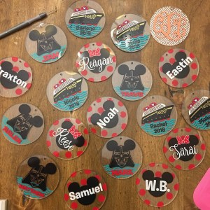 Disney Cruise keychains in progress