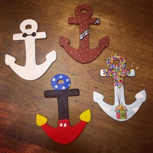 Painted Disney Anchor Magnets