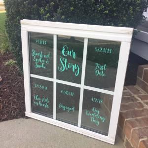 Wedding Windowpane