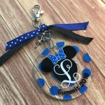 Minnie Summit Cheerleading Keychain