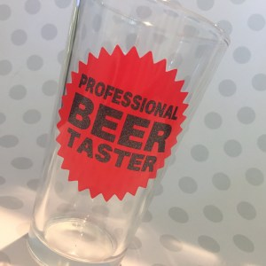 professional beer drinker glass