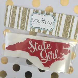 State Girl NC red decal