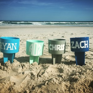 personalized beach spikers