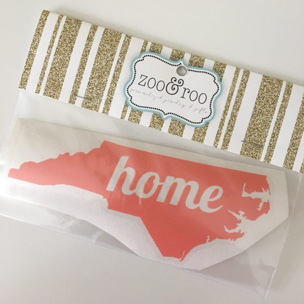NC decal home coral