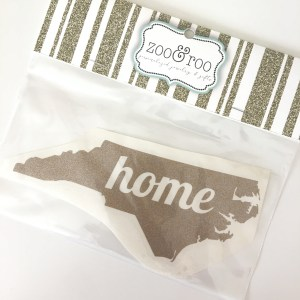 NC decal home gold glitter