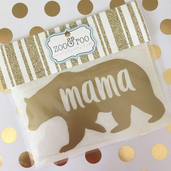 mama bear vinyl decal gold