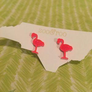 flamingo earrings acrylic