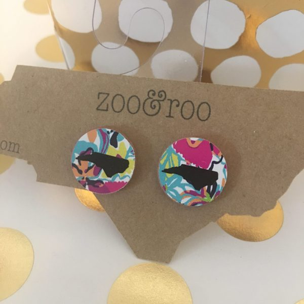 lilly pattern earrings with black NC