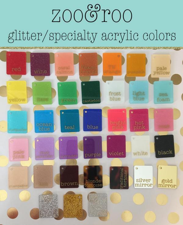 zoo&roo glitter acrylic colors