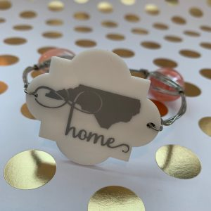 NC home wire wrapped bracelet