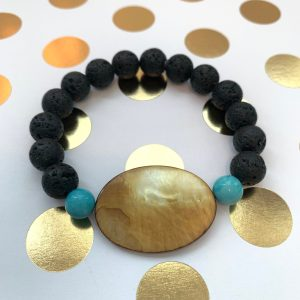 lava mother of pearl amazonite essential oil diffuser bracelet