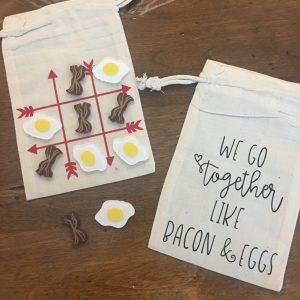 Tic Tac Toe - bacon & eggs