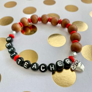 best teacher wood bead bracelet