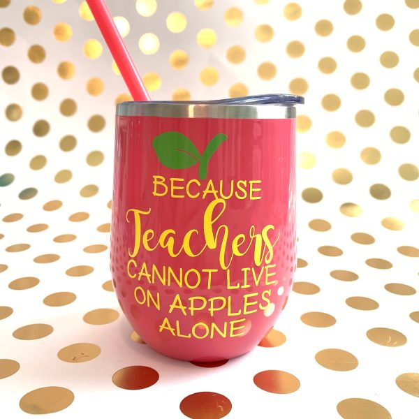 because teachers cannot live on apples alone coral with yellow