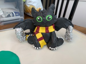 Toothless statue before baking