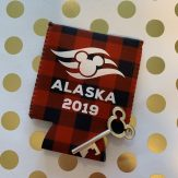 Alaska Disney Cruise can cooler buffalo plaid with Mickey bottle opener