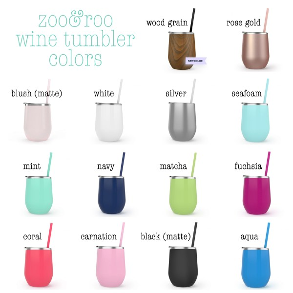 zoo&roo wine tumbler color options