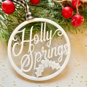 holly springs Christmas ornament