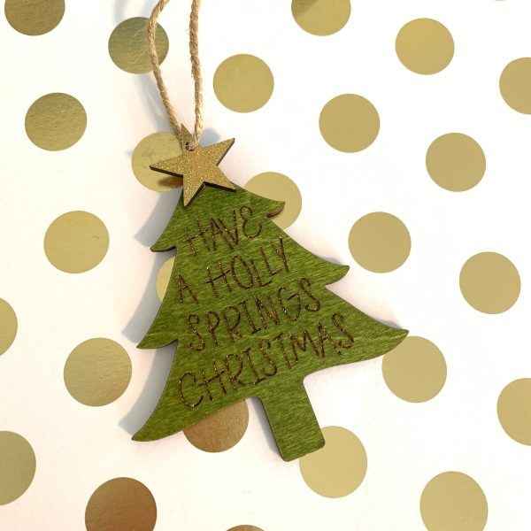 Holly Springs Christmas ornament