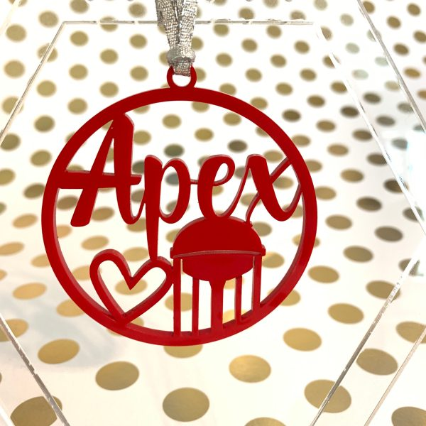 Apex water tower ornament