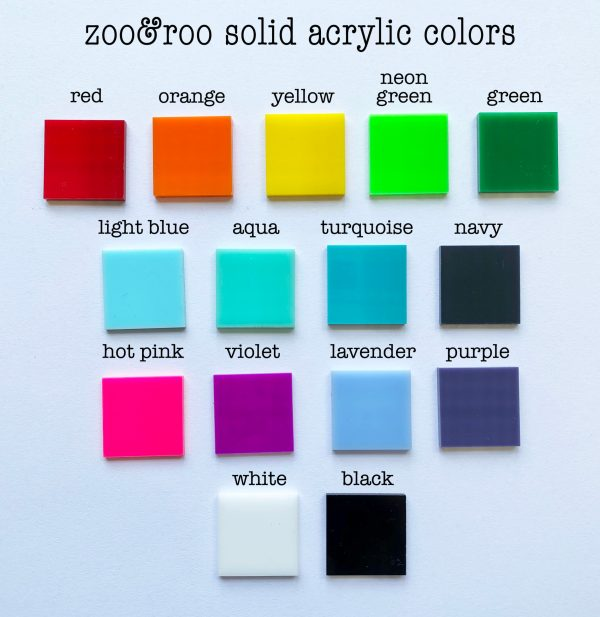 solid acrylic color choices