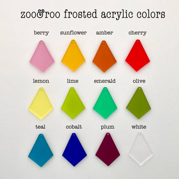 zoo&roo frosted acrylic colors