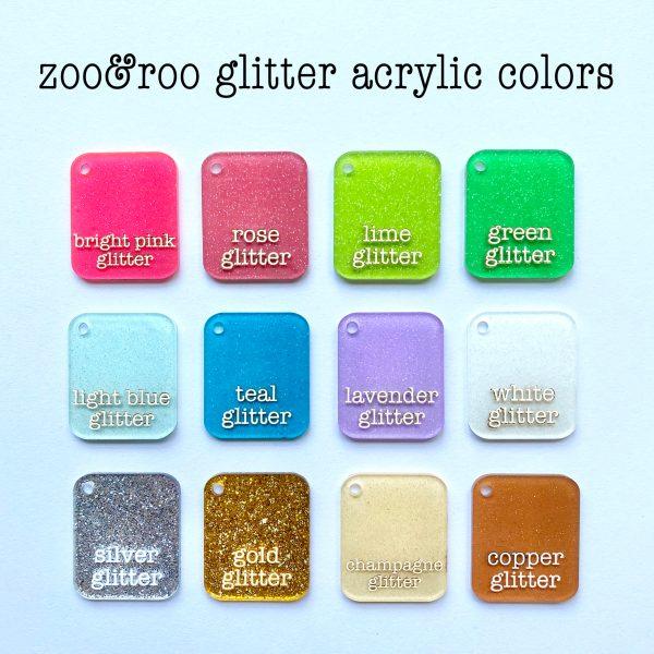 glitter acrylic color choices