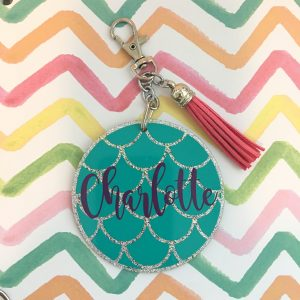 custom mermaid scales keychain