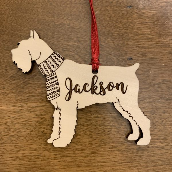 schnauzer dog breed ornament