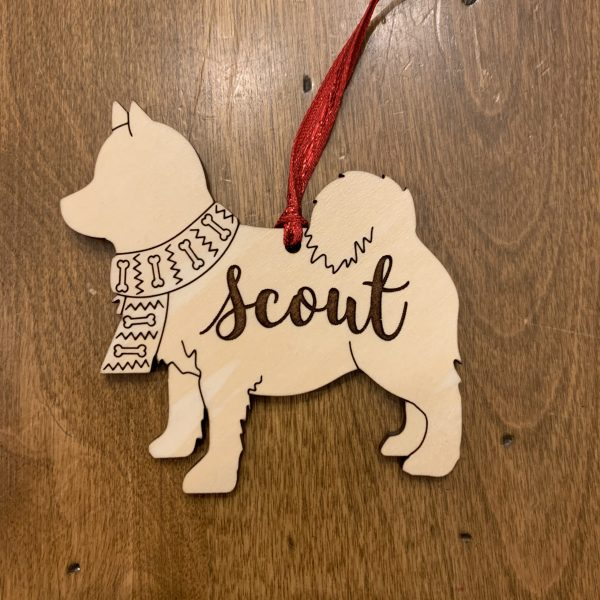 pomsky custom dog breed ornament