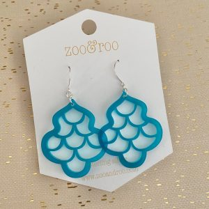 sirene mermaid earrings frosted teal