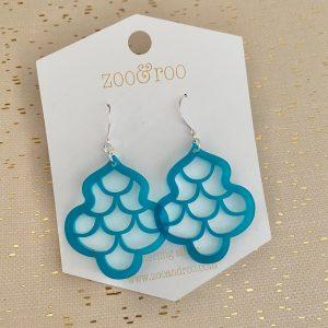 sirene mermaid earrings frosted teal
