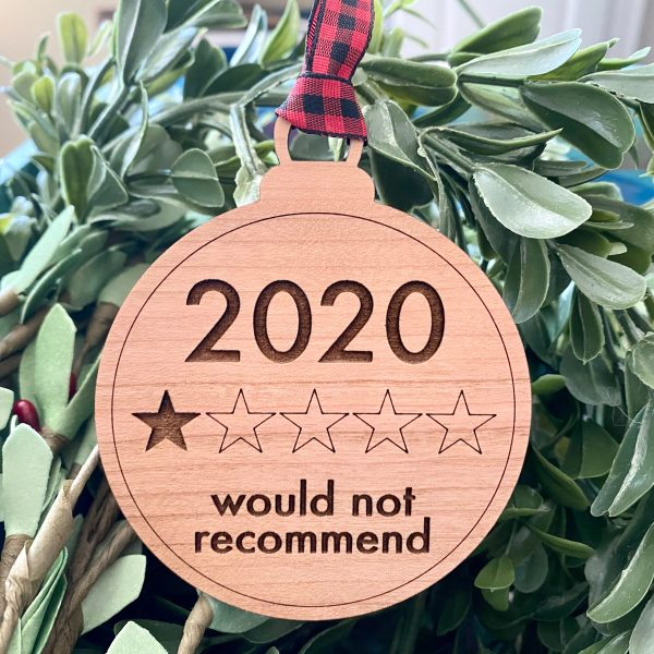one star 2020 ornament