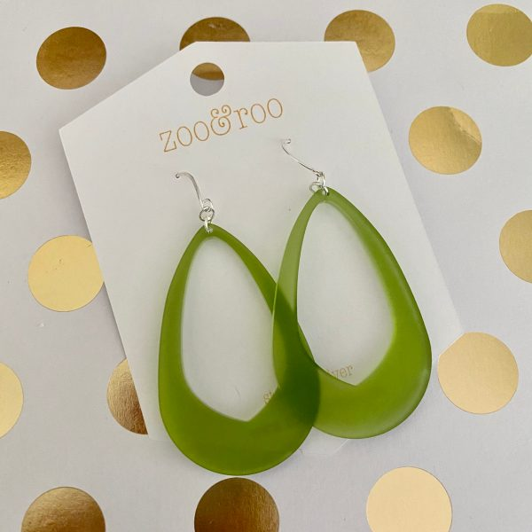 Olivia earrings frosted olive